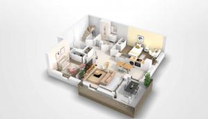 Pessac – appartement de type T4 en Duplex avec balcon