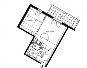 Cenon – Appartement de type T2 avec balcon