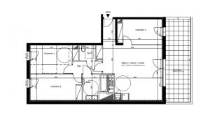 Cenon – Appartement T4 de 81m2 avec terrasse